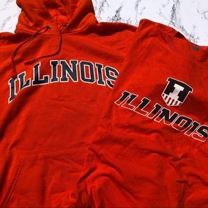 University of Illinois Hoodie & T-Shirt Bundle XL